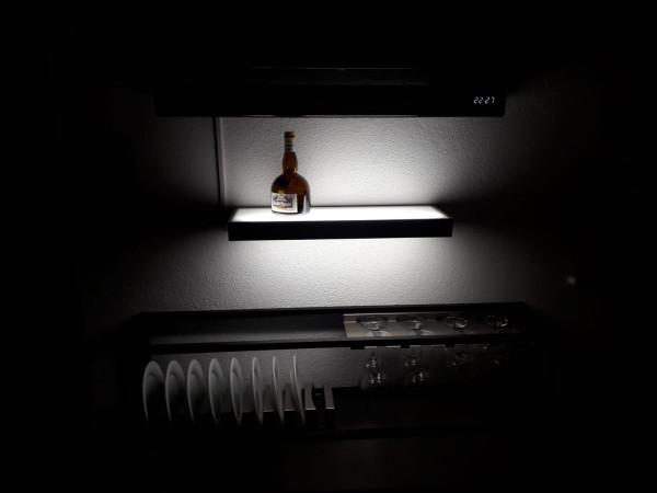Glasbodenleuchte 600 mm, 7 Watt LED Edelstahl
