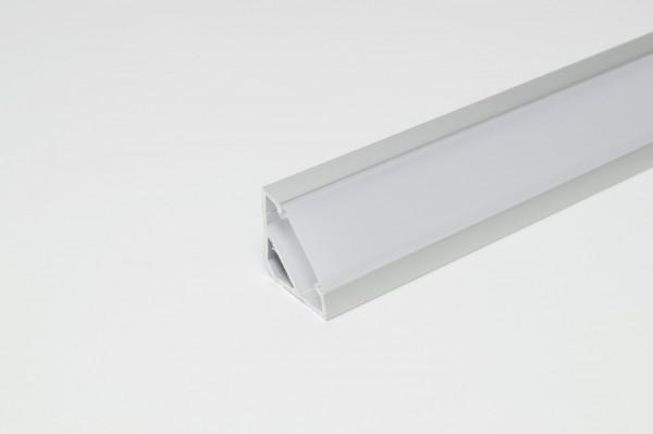 LED Leuchtenprofil Porto 5 18x18 Aufbau, Aluminium EV1 L: 3000 mm