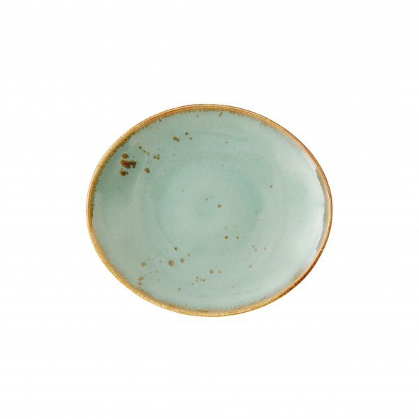 "TC Erthe Celadon Samba Oval Plate 6.75x6"" (17x15cm)"