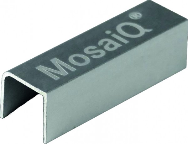 Verbindungsclip Logo MosaiQ,Alu eloxal B13,5xT40xH12 mm