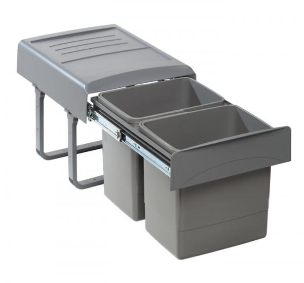Abfallsammler orion grey 2x 15 L 356x480x348mm
