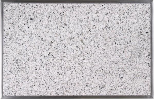 Granitfeld mit Edelstahlrahmen 510 x 325mm, Bianco Cristall