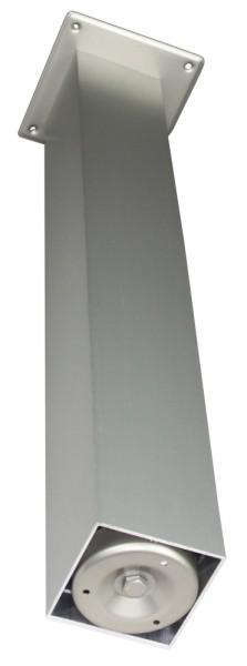 Stützfuß Vierkant groß 820 mm 100 x 100 mm, Edelstahloptik