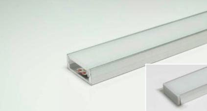 LED Leuchtenprofil Paris 17,5x7 Einbau Aluminium EV1 L:3000 mm