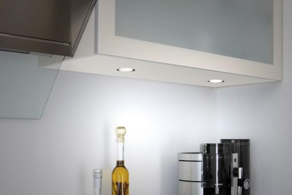 LED Einbauleuchte, 3er Set, Funkdimmer 2,5 W je Stahler, NW, Kon 30W