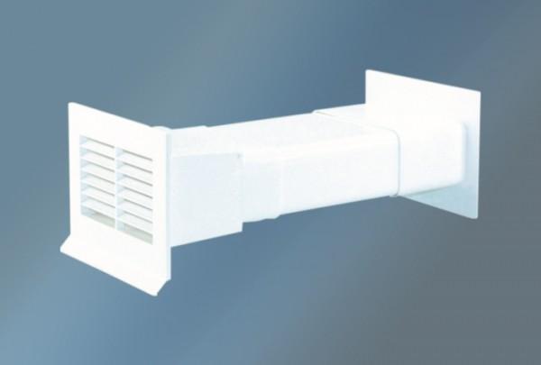 Mauerkasten mit Flachanschluss und Rückstauklappe, Ø 125mm