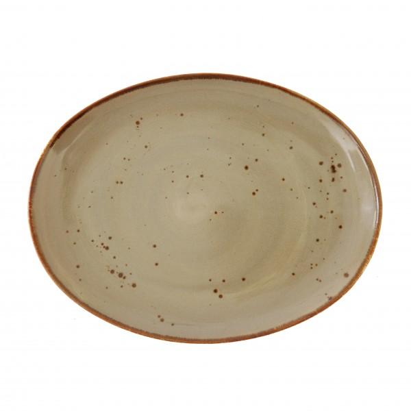 """TC Erthe Shitake Flat Oval Platter 13x10"""" (33x25cm)"""