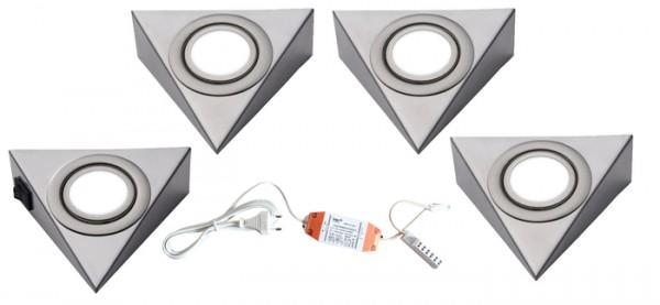 LED/PIRA 4er-Set mit Schalter