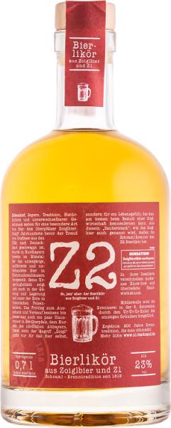 Z2 Bierlikör aus Zoiglbier & Z1 23 %vol. 0,7 L