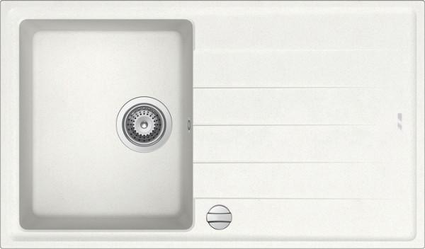 Einbauspüle S 780, weiß mit Ablage ab 45er Unterschr m. Excenter