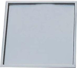 Edelstahlwanne 250 x 250 x 10 mm