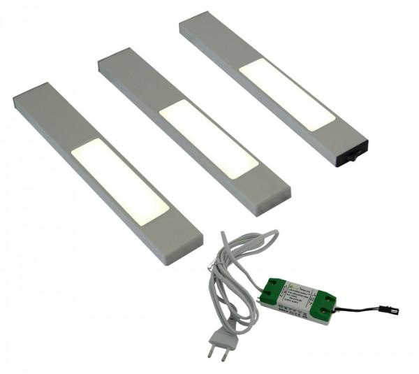 LED 3er Set, davon 1 Masterleuchte inkl Kon 12VDC 8W