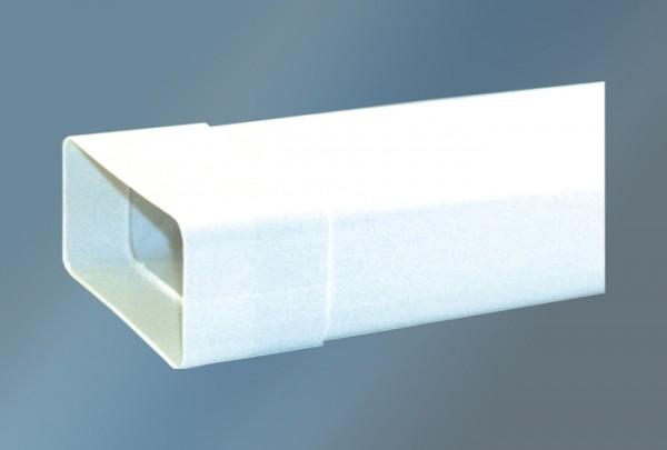 Vierkantrohr 100 cm mit Muffe Ø 150 mm, weiß