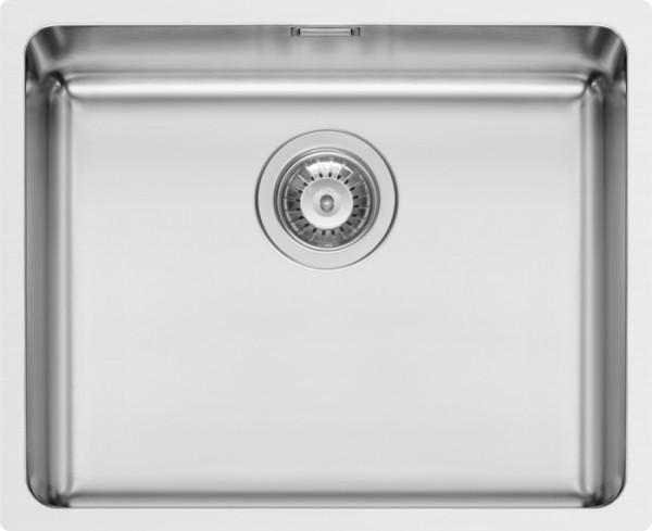 Edelstahl, Unterbau, 92mm Siebkorbventil poliert, ohne Hahnlöcher, 540x440mm