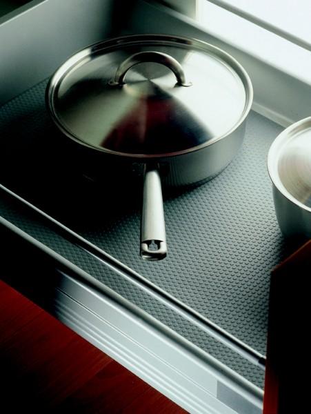 Antirutschmatte in Noppenprägung silber, Rollenware á 0,50m breit, Preis pro Meter