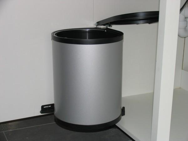 Wesco Einbau Abfalleimer Mülleimer Abfallsammler 11 Liter / silber