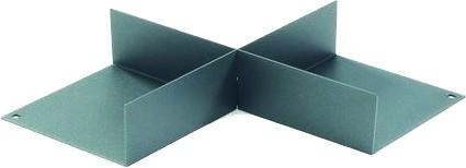 Auskreuzung 225x222x43, graphit 225x222x43mm, graphit schwarz