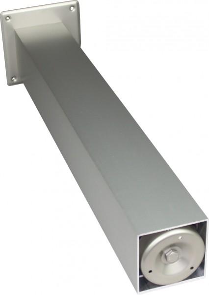 Stützfuß Vierkant groß 720 mm 100 x 100 mm, Edelstahloptik
