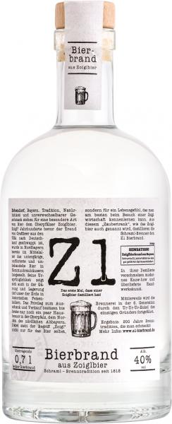 Z1 Bierbrand aus Zoigl 40%vol. 0,7 L ( Karton mit 6 Flaschen)