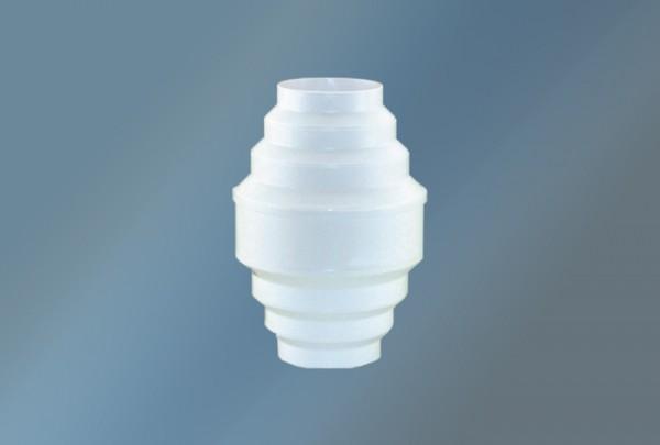 Kondenswassersammler 100 - 150 Durchmesser kürzbar,in weiß