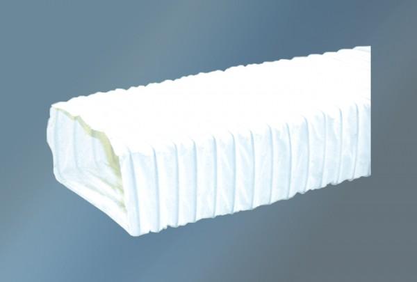 Dunstabzugsschlauch rechteckig 3 m Durchmesser 125 mm, weiß
