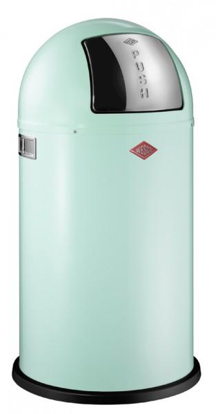 WESCO Abfallsammler Abfalleimer Mülleimer PUSHBOY MINTGREEN 50L, B 400mm, H 755mm