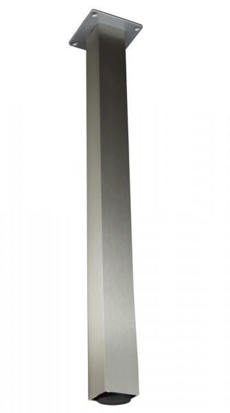Stützfuß Vierkant klein 820 mm 50 x 50 mm, Edelstahloptik