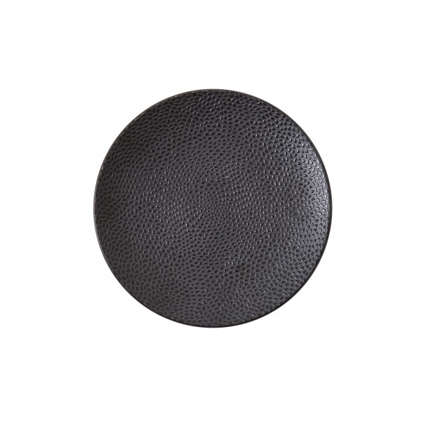 "TC Cobble Black Matte Plate 8.25"" (21cm)"