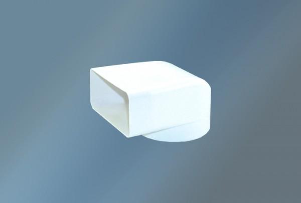 Umlenkstück mit 30 mm Anschlussstutzen Ø 125 mm, weiß