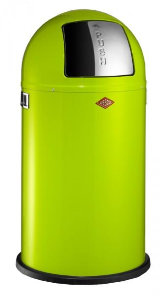 WESCO Abfallsammler Abfalleimer Mülleimer PUSHBOY LEMONGREEN 50L,B 400mm, H 755mm