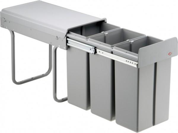 Mülleimer Küchenschrank wesco abfalleimer für küchenschrank 30 liter, vollauszug bio trio 30