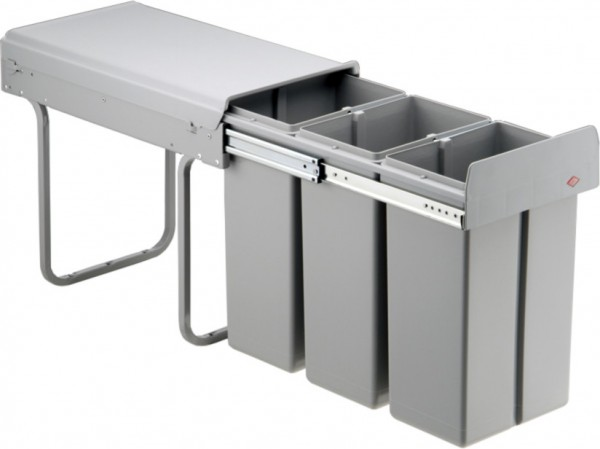 wesco abfalleimer f r k chenschrank 30 liter vollauszug. Black Bedroom Furniture Sets. Home Design Ideas