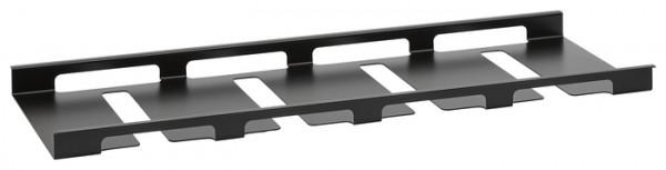 Glashalter 60 schwarz pulverbeschichtet 558x208x25mm