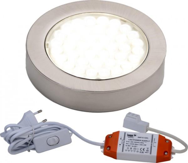 LED ARI- Aufbaustrahlerset 1er mit Konverter, 2m Zuleitung, NW