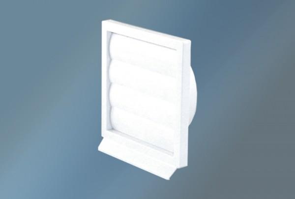 Lüftungsgitter Kunststoff, weiß Durchmesser 150 , 225 x 225 mm