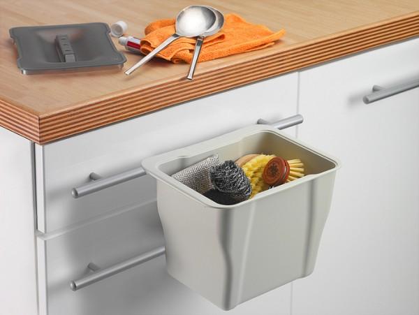 WESCO Kitchen-Box 5 L Biomüll Tischabfall Mülleimer Multifunktions Box alugrau