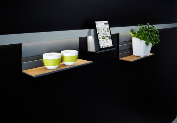 """Deko-Einleger """"""""M"""""""" Linero MosaiQ, Holz 350 x 4 x 106,5 mm, MDF Eiche furniert"""