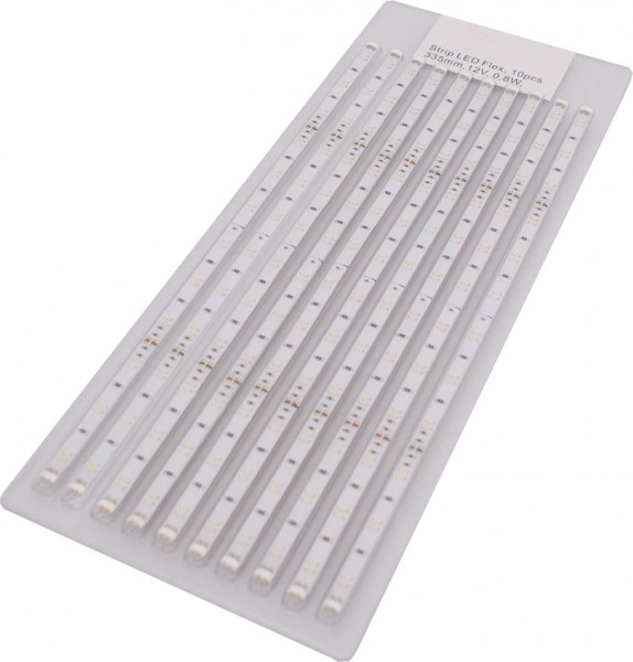 LED Streifen, NW, Kon 15W, Touchdimmer 12V, 0,8W, 335mm, 10er Pack, Flex