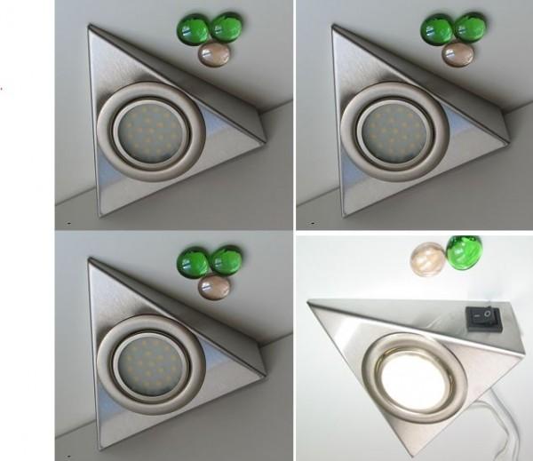 Beleuchtung LED Unterbau 4er Set mit Schalter