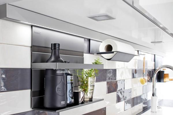 Papierrollenhalter Linero MosaiQ, schwarz B350 x T155 x H120 graphitschwarz