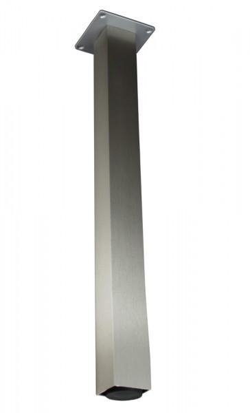 Stützfuß Vierkant klein 720 mm 50 x 50 mm, Edelstahloptik