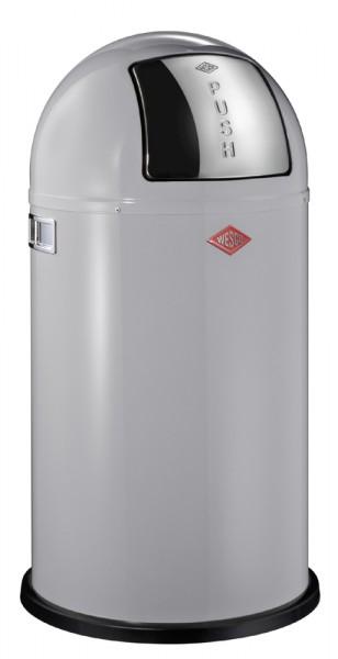 WESCO Abfallsammler Abfalleimer Mülleimer PUSHBOY COOLGREY 50L,B 400mm, H 755mm