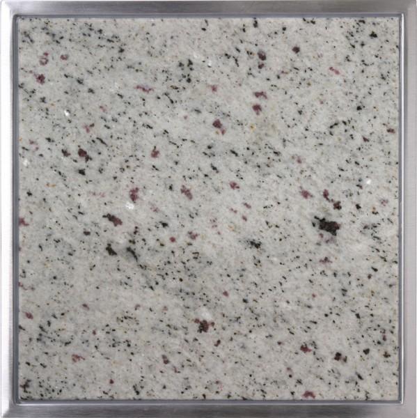 Granitfeld mit Edelstahlrahmen 250 x 250mm, Verde Eukalyptus