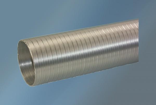 Dunstabzugsrohr Alu 0,8 bis 3 m Durchmesser 125 mm