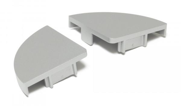 Endkappenset Mini Corner (2 Stück) Alufarbig