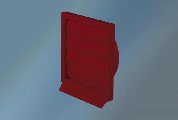 Lüftungsgitter Kunststoff 125 Ziegelrot Durchmesser 125x155x155