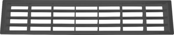 Lüftungsgitter aus Kunststoff Länge 400mm, schwarz