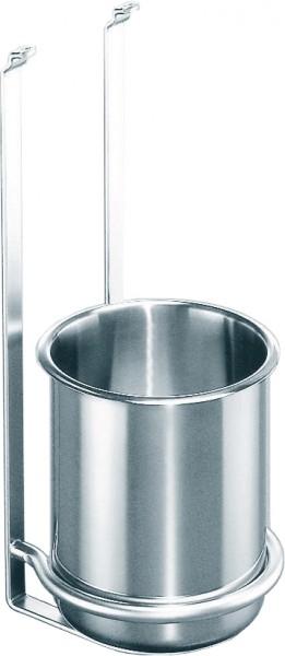 Köcherhalter LINERO 2000 inkl. 1 Edelstahlköcher, Edelstahloptik