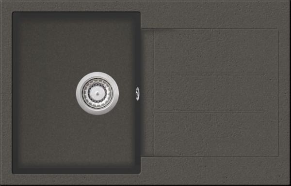 Granitspüle W 780, gray incl. Drehexcentergarnitur und Siebkorb in chrom