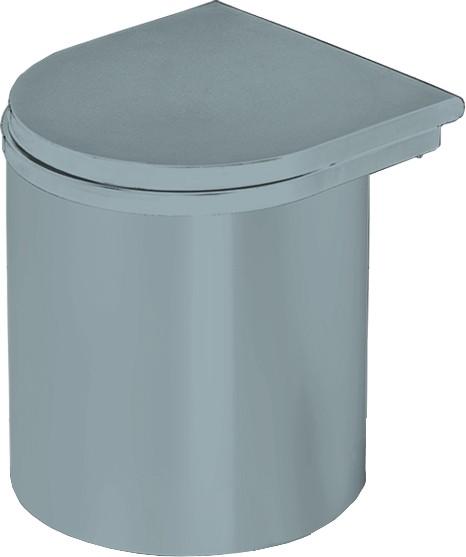 Einbau-Abfallsammler Mülleimer Abfalleimer 13 L Silbergrau, ab 400 mm Schrankbreite